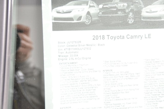 Certified Pre-Owned 2018 Toyota Camry LE ***CERTIFIED***